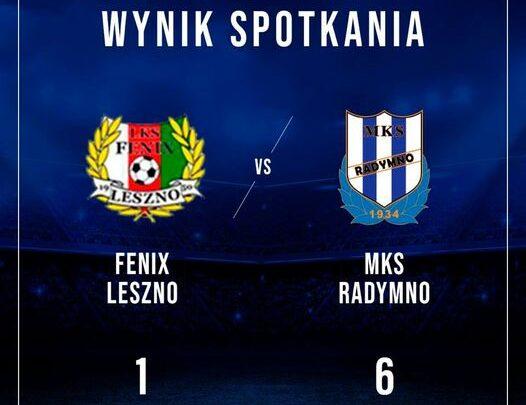 Wynik Spotkania Feniks Leszno - MKS Radymno 1:6, herby obu drużyn